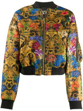 Floral-print Bomber Jacket - Versace Jeans Couture