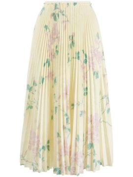 Floral Print Pleated Skirt - Red Valentino