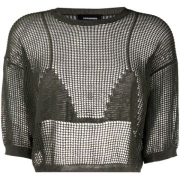 Cropped Crochet Top - Dsquared2