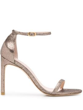 The Nudist Song Metallized Sandals - Stuart Weitzman