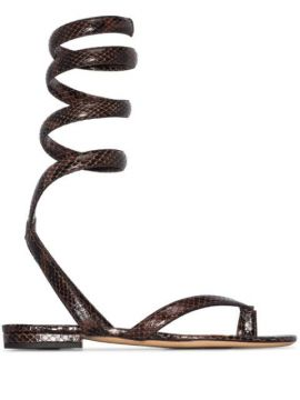 Wrap-around Ankle Strap Sandals - Bottega Veneta