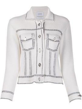 Contrast Stitching Slim-fit Jacket - Barrie
