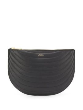Logo Quilted Clutch Bag - A.p.c.