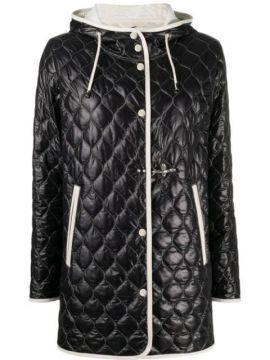Contrast-trim Quilted Jacket - Fay