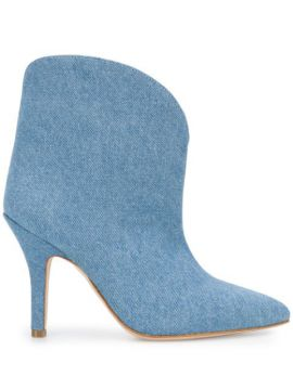 Point-toe Denim Ankle Boots - Paris Texas