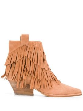 Carla Fringed Ankle Boots - Sergio Rossi