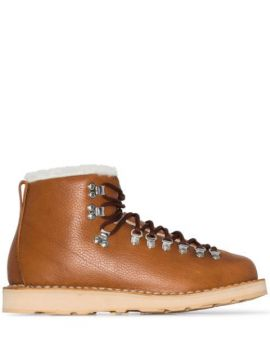 Inverno Vet Leather And Shearling Boots - Diemme