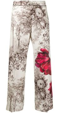 Floral Print Trousers - F.r.s For Restless Sleepers