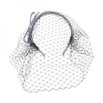 Netted Bow Headband - Red Valentino