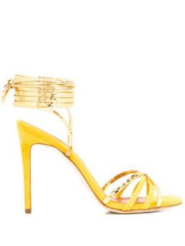 Wrap-around Strappy Sandals - Paris Texas