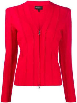 Ribbed Fitted Jacket - Emporio Armani
