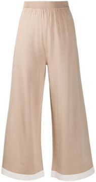 Cropped Wide Leg Trousers - Boutique Moschino