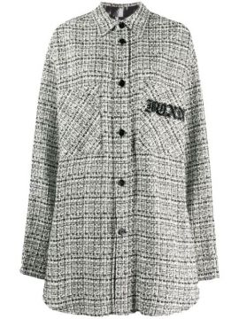 Tweed Button Down Jacket - Faith Connexion
