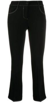 Cropped Slim-fit Trousers - Alberto Biani