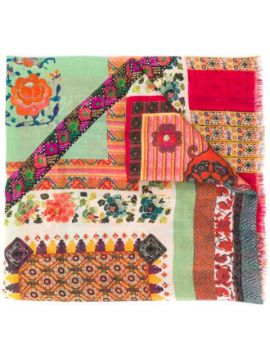 Paisley Print Patchwork Scarf - Etro