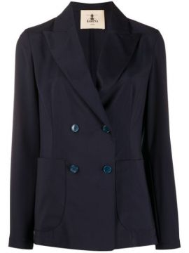 Long Sleeve Double Buttoned Blazer - Barena