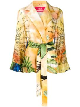 Jungle-print Silk Jacket - F.r.s For Restless Sleepers