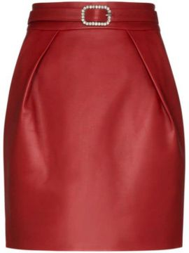 Crystal-embellished Leather Mini Skirt - Alexandre Vauthier