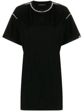 Cut-out Crystal-embellished T-shirt - Frankie Morello