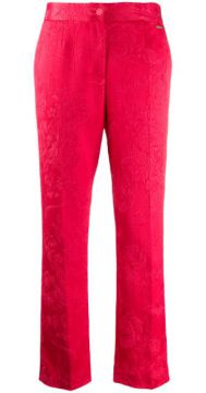 Textured Floral Patterned Trousers - Blumarine