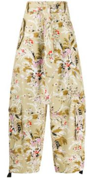 Delicate Flower Cropped Trousers - Colville