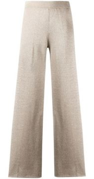 High-waisted Shimmer Effect Palazzo Pants - Missoni