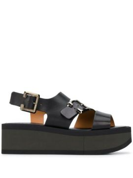 Buckled Wedge Sandals - Clergerie