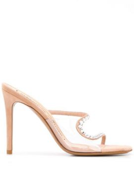 Crystal Embellished Stiletto Sandals - Alexandre Vauthier