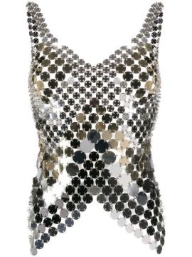 Embellished Fitted Tank Top - Paco Rabanne