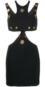 Cut Out Logo Plaque Dress - Fausto Puglisi