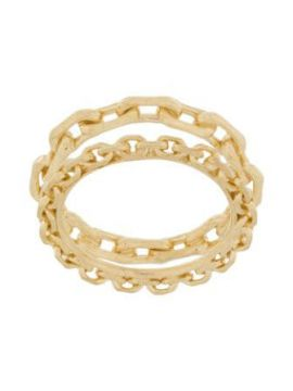 Chain-embellished Stacked Ring - Wouters & Hendrix