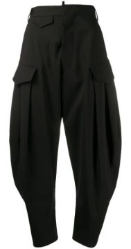 High-rise Cropped Cocoon-leg Trousers - Dsquared2