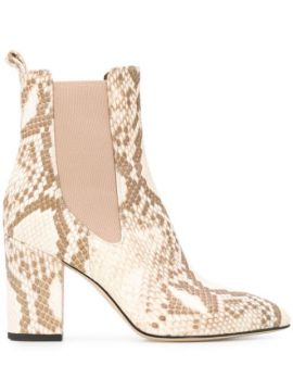 Embossed Pull-on Ankle Boots - Paris Texas
