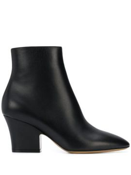 Curved Heel 75m Ankle Boots - Salvatore Ferragamo