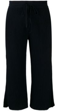 Ribbed Cropped Trousers - Falke
