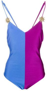Colour Block Jersey Bodysuit - Fausto Puglisi