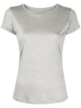 Round Neck Silk T-shirt - Incentive! Cashmere