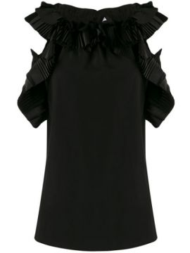Ruffled Pleated Details Blouse - P.a.r.o.s.h.