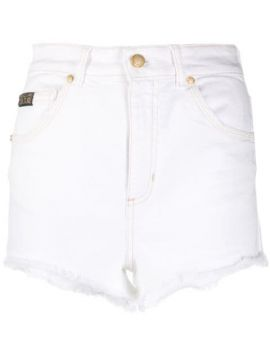 High-rise Frayed Short - Versace Jeans Couture