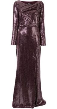 Sequinned Cut-out Back Gown - Badgley Mischka