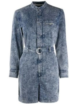 Belted Denim Playsuit - Stella Mccartney