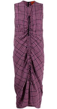 Gathered Plaid Dress - Colville