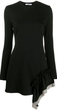 Embellished Ruffle Trim Dress - Area