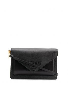 Logo Envelope Clutch - Prada