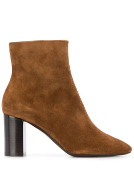 Block Heel Ankle Boots - Saint Laurent