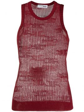 Sheer Knitted Vest Top - Courrèges