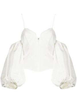 Celeste Moire Bardot Top - For Love And Lemons