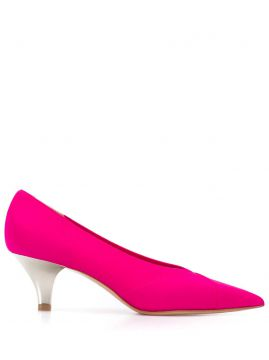 Pointed Kitten Heel Pumps - Casadei