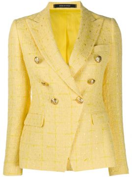 Jalicya Tweed Double-breasted Blazer - Tagliatore