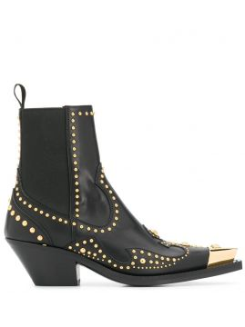 Studded Ankle Boots - Versace